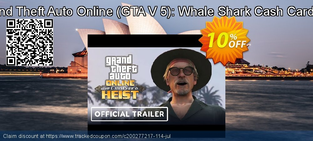 Grand Theft Auto Online - GTA V 5 : Whale Shark Cash Card PC coupon on Mom Day deals