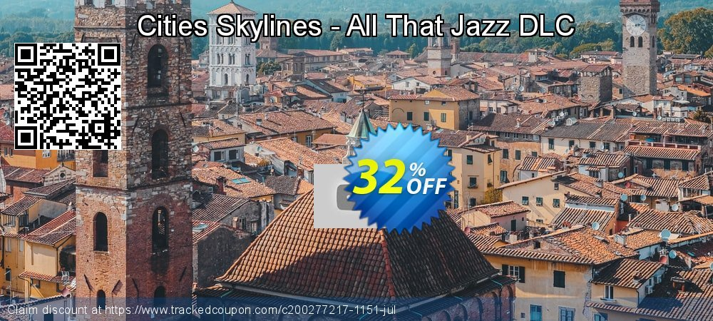 Get 80% OFF Cities Skylines - All That Jazz DLC offering sales