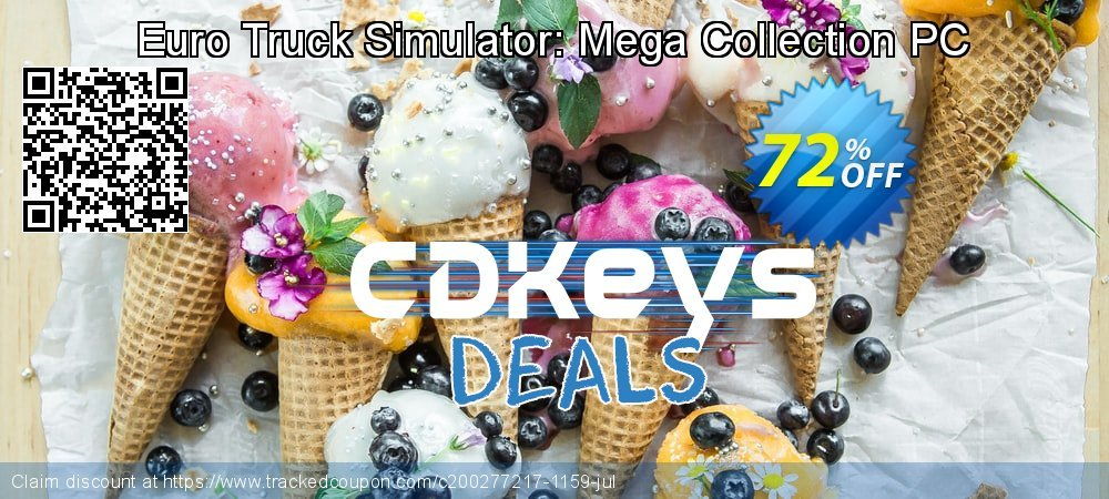 Euro Truck Simulator: Mega Collection PC coupon on National Family Day super sale