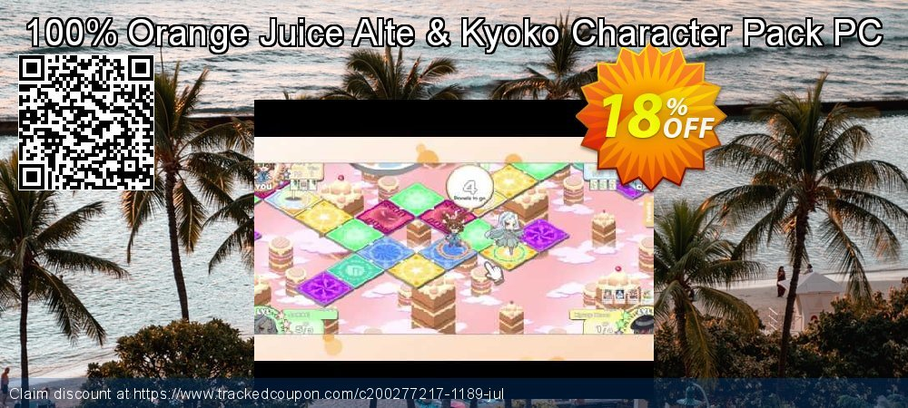 100% Orange Juice Alte & Kyoko Character Pack PC coupon on National Cleanup Day sales