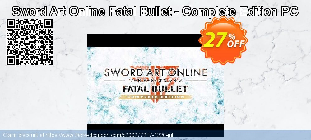 Sword Art Online Fatal Bullet - Complete Edition PC coupon on Cheese Pizza Day offering discount