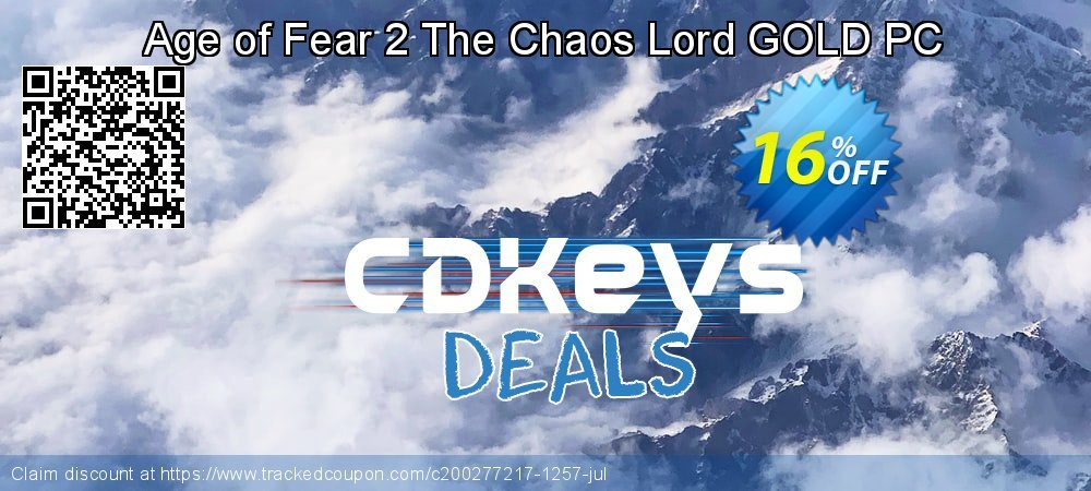 Age of Fear 2 The Chaos Lord GOLD PC coupon on National Cleanup Day offering sales