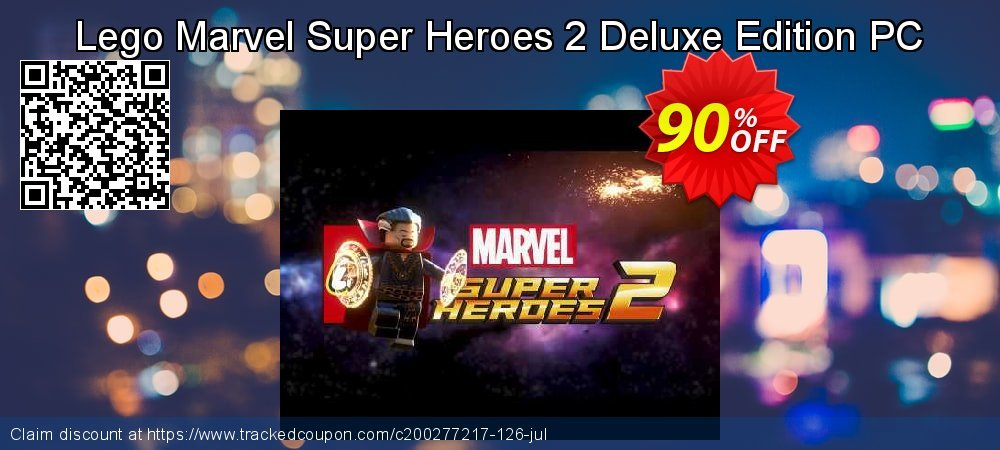 Lego Marvel Super Heroes 2 Deluxe Edition PC coupon on Mom Day offering discount