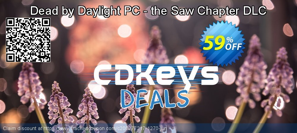 Dead by Daylight PC - the Saw Chapter DLC coupon on Wildlife month sales