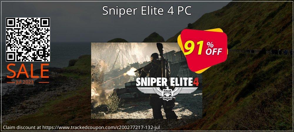 Get 80% OFF Sniper Elite 4 PC sales