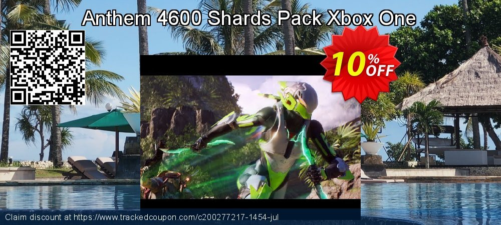 Anthem 4600 Shards Pack Xbox One coupon on July 4th offer