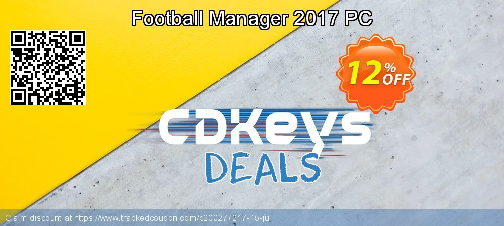 Football Manager 2017 PC coupon on National Pumpkin Day super sale