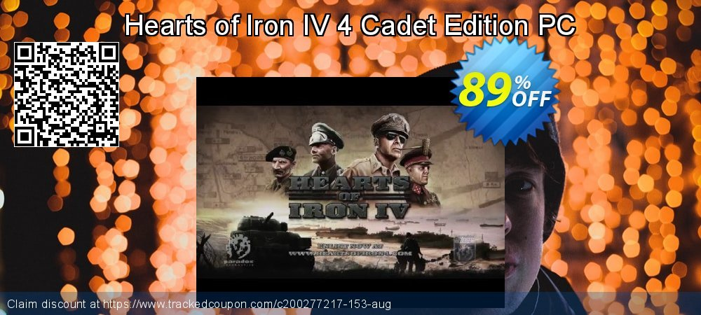 Hearts of Iron IV 4 Cadet Edition PC coupon on Mothers Day offering discount