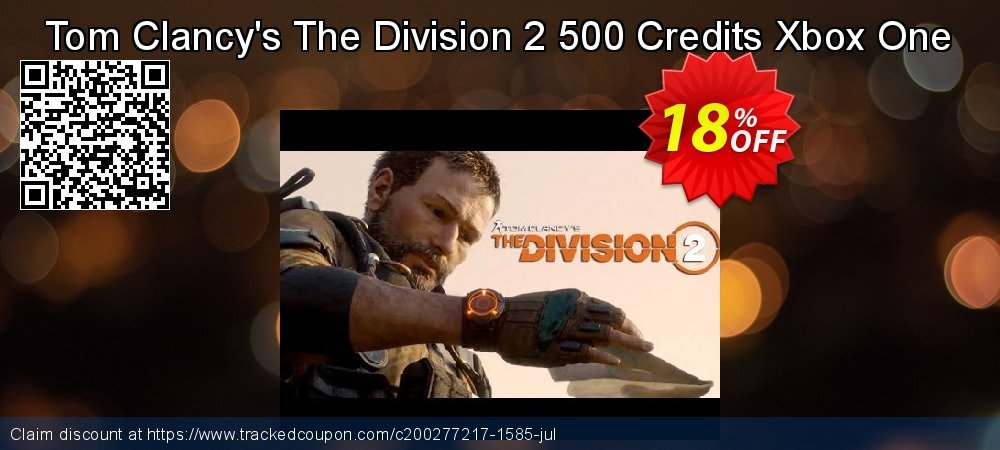 18% OFF Tom Clancy's The Division 2 500 Credits Xbox One ...