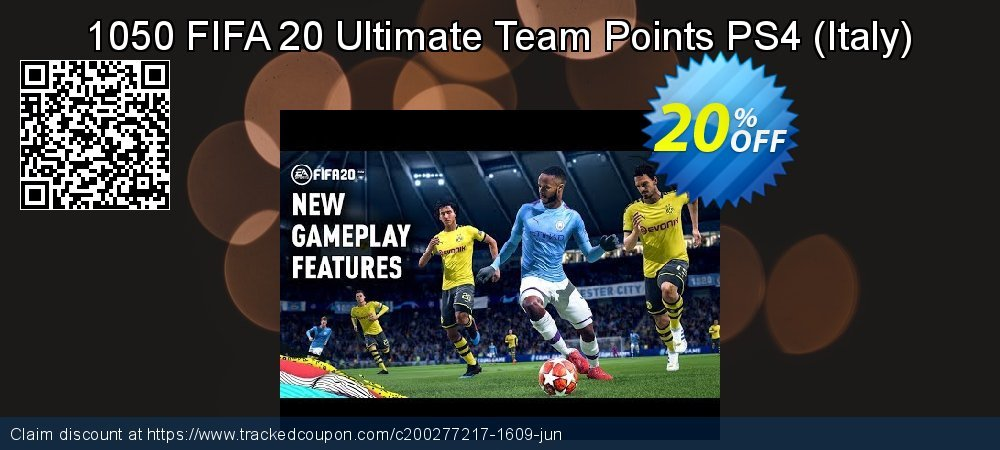 Get 18% OFF 1050 FIFA 20 Ultimate Team Points PS4 (Italy) discounts