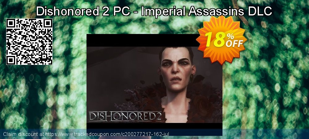 Dishonored 2 PC - Imperial Assassins DLC coupon on Mom Day offering discount