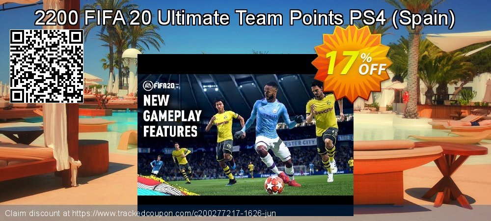 Get 14% OFF 2200 FIFA 20 Ultimate Team Points PS4 (Spain) offering sales