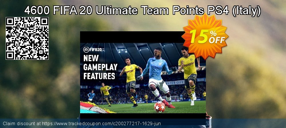 4600 FIFA 20 Ultimate Team Points PS4 - Italy  coupon on Black Friday deals