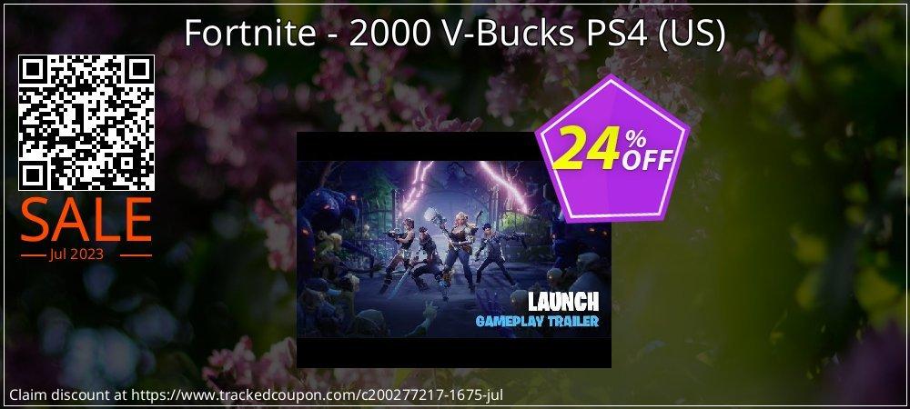 Fortnite - 2000 V-Bucks PS4 - US  coupon on Halloween deals