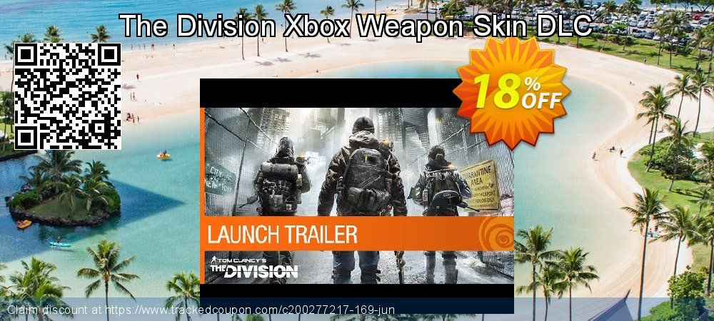 The Division Xbox Weapon Skin DLC coupon on Mothers Day offer