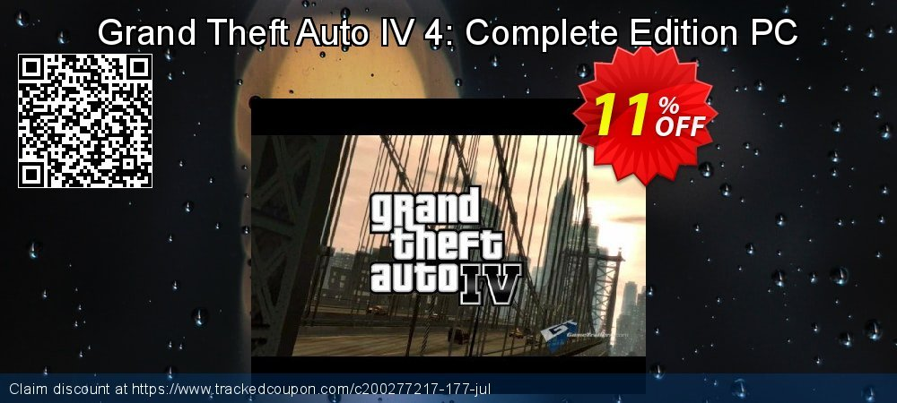 Grand Theft Auto IV 4: Complete Edition PC coupon on Mothers Day deals