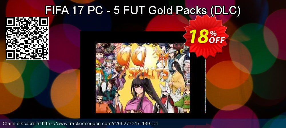 FIFA 17 PC - 5 FUT Gold Packs - DLC  coupon on Mom Day offering discount