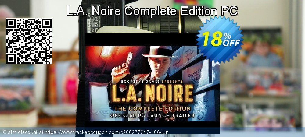 L.A. Noire Complete Edition PC coupon on Mom Day deals