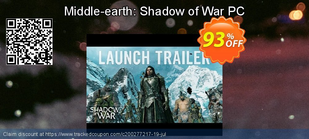 Middle-earth: Shadow of War PC coupon on Mothers Day offering sales