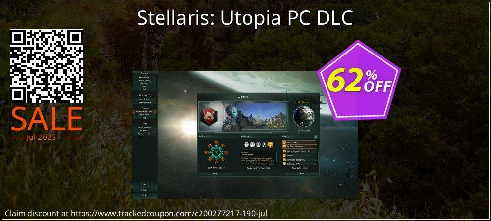 Stellaris: Utopia PC DLC coupon on Mom Day offering sales