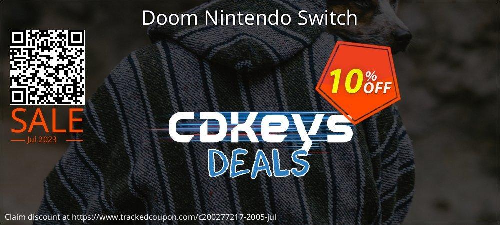 Get 10% OFF Doom Nintendo Switch offering sales