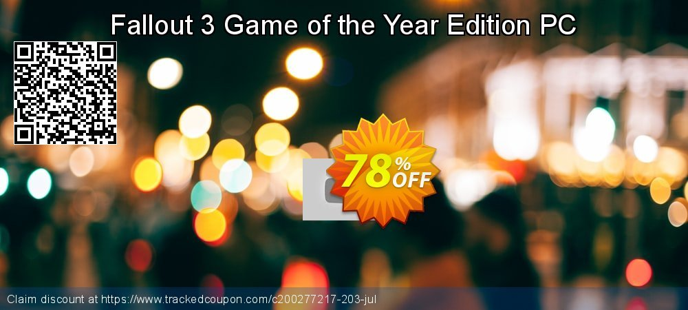 Fallout 3 Game of the Year Edition PC coupon on Mothers Day sales