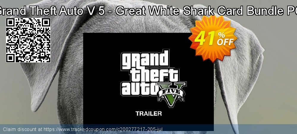 Grand Theft Auto V 5 - Great White Shark Card Bundle PC coupon on Mothers Day offer