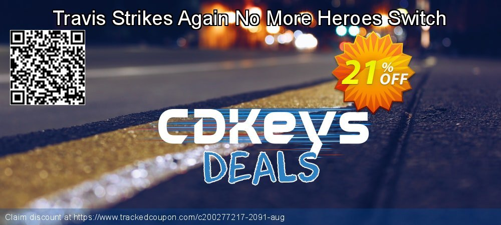 Travis Strikes Again No More Heroes Switch coupon on Student deals offer