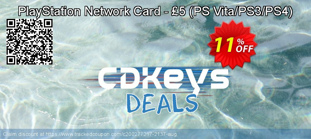 PlayStation Network Card - £5 - PS Vita/PS3/PS4  coupon on Father's Day sales