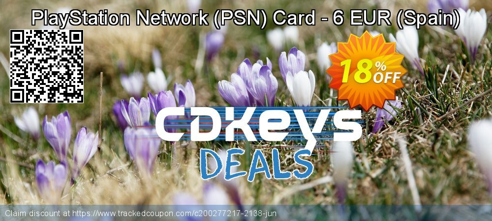 PlayStation Network - PSN Card - 6 EUR - Spain  coupon on National Cheese Day deals
