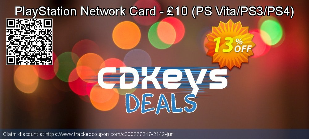 PlayStation Network Card - £10 - PS Vita/PS3/PS4  coupon on World Bicycle Day offering sales