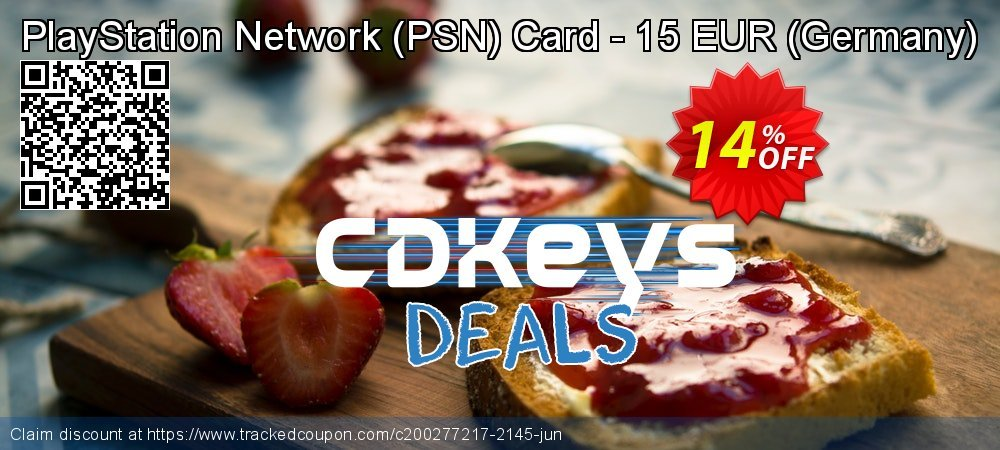Get 10% OFF PlayStation Network (PSN) Card - 15 EUR (Germany) discount