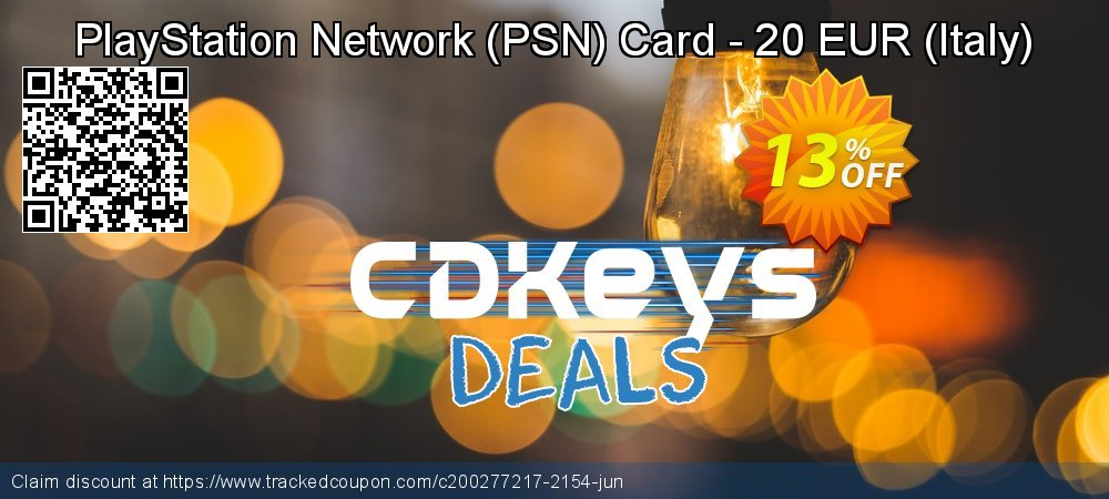 PlayStation Network - PSN Card - 20 EUR - Italy  coupon on Egg Day promotions