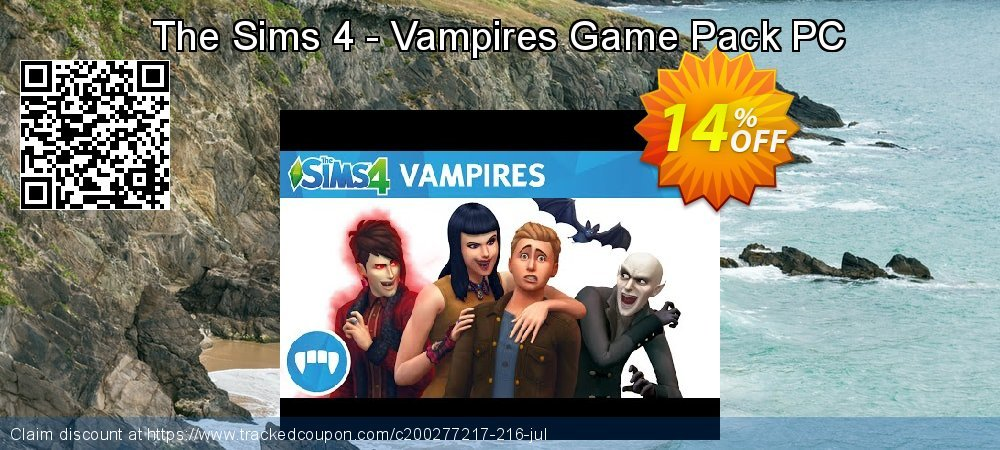 The Sims 4 - Vampires Game Pack PC coupon on Mom Day offering discount