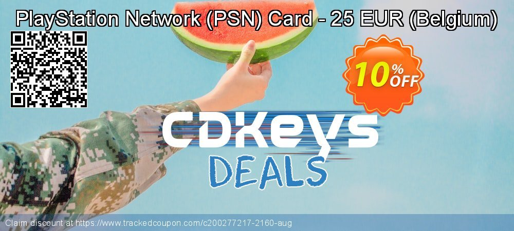 PlayStation Network - PSN Card - 25 EUR - Belgium  coupon on Hug Holiday offering sales