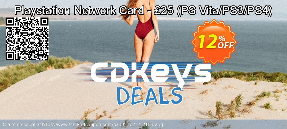 Playstation Network Card - £25 - PS Vita/PS3/PS4  coupon on Father's Day promotions