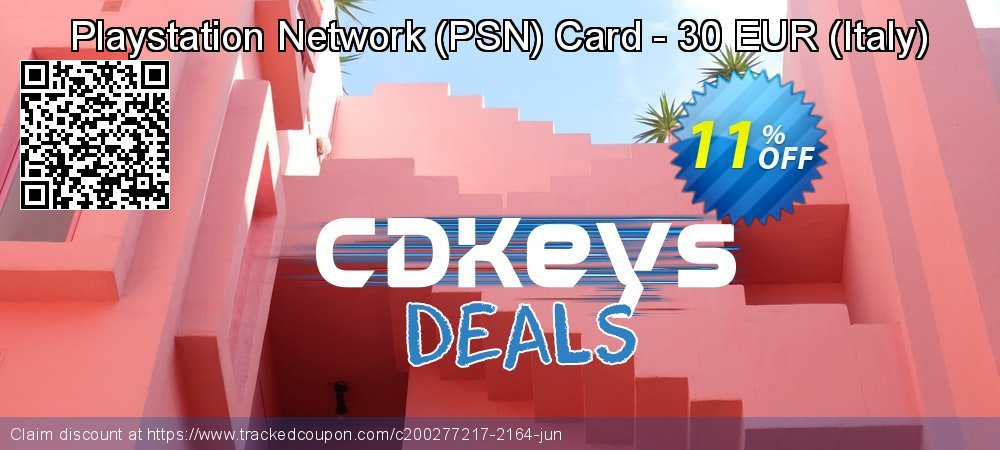 Playstation Network - PSN Card - 30 EUR - Italy  coupon on National Cheese Day sales