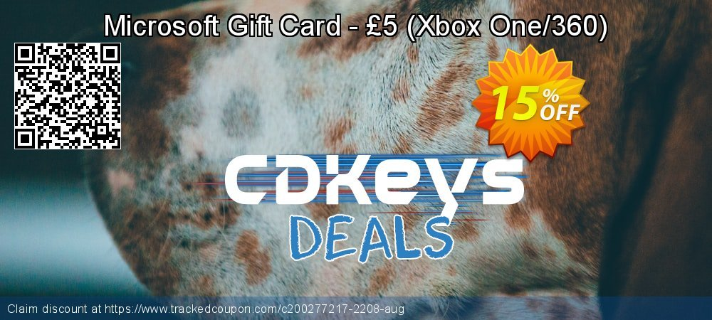 Microsoft Gift Card - £5 - Xbox One/360  coupon on Social Media Day promotions