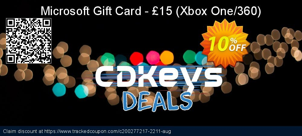 Microsoft Gift Card - £15 - Xbox One/360  coupon on World Day of Music offer