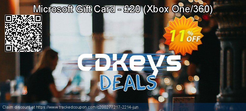 Microsoft Gift Card - £20 - Xbox One/360  coupon on Summer offering sales