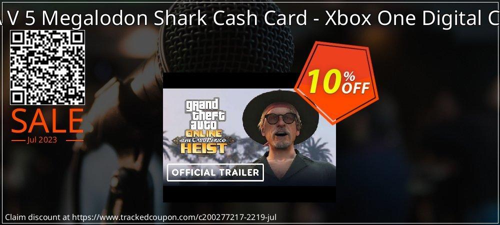 Get 10% OFF GTA V 5 Megalodon Shark Cash Card - Xbox One Digital Code offering sales