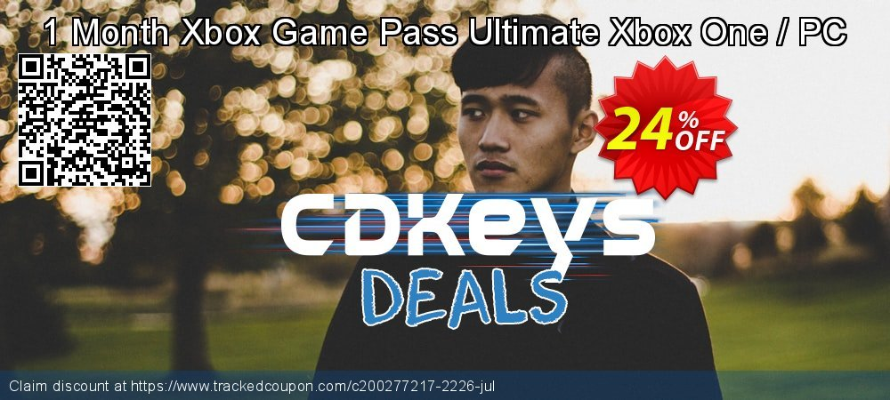 1 Month Xbox Game Pass Ultimate Xbox One / PC coupon on Camera Day promotions