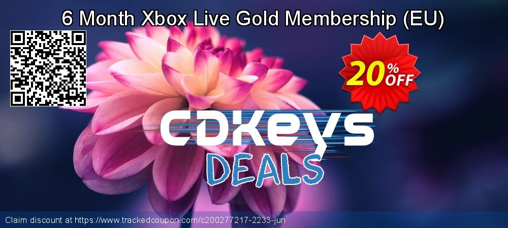 6 Month Xbox Live Gold Membership - EU  coupon on World Bicycle Day super sale