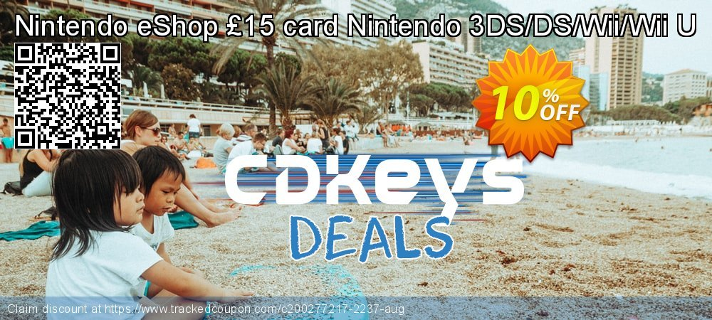 Nintendo eShop £15 card Nintendo 3DS/DS/Wii/Wii U coupon on World Day of Music deals