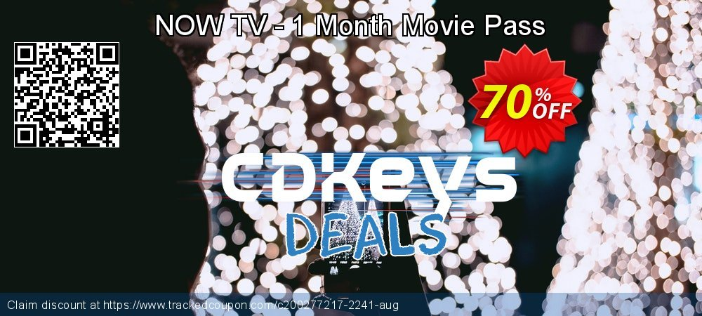 NOW TV - 1 Month Movie Pass coupon on Father's Day offering sales