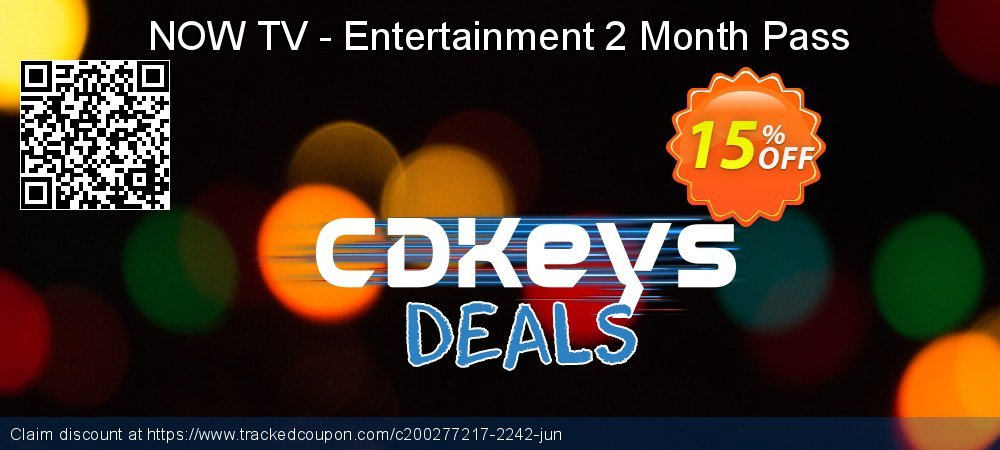 NOW TV - Entertainment 2 Month Pass coupon on National Cheese Day super sale