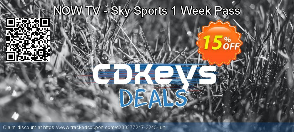 NOW TV - Sky Sports 1 Week Pass coupon on World Bicycle Day discounts