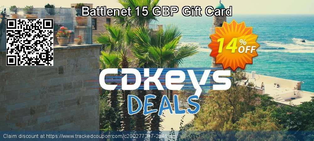 Battlenet 15 GBP Gift Card coupon on World Bicycle Day deals