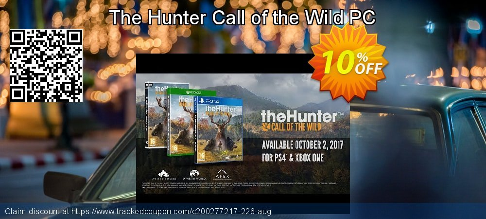 The Hunter Call of the Wild PC coupon on Mom Day offering sales