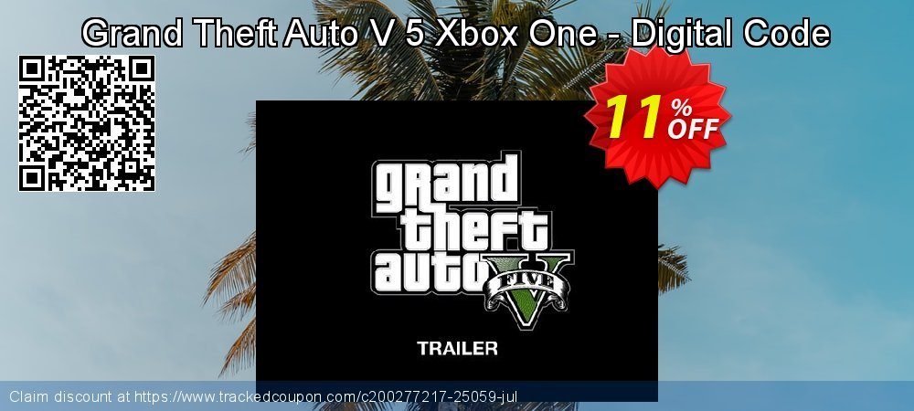 Grand Theft Auto V 5 Xbox One - Digital Code coupon on Father's Day promotions